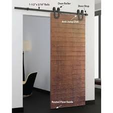 Sliding Barn Door Kits American Pro Decors Black Solid Steel Decorative Sliding Rolling
