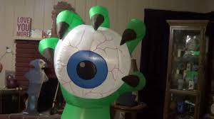 halloween inflatable monster hand holding an eyeball youtube