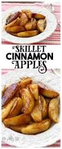 skillet cinnamon apples butter with a side of bread