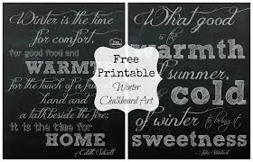 free printable winter chalkboard art the happy housie