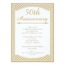 fiftieth anniversary 50th anniversary invitations announcements zazzle