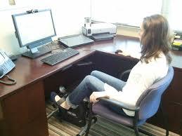 Exercise At The Office Desk Desk Exercise Equipment Creative Desk Decoration