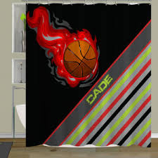 Basketball Curtains Children U0027s Bathroom Shower Curtains Fabric Shower Curtain For