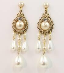 gold chandelier earrings bridal chandelier earrings wedding chandelier vintage style