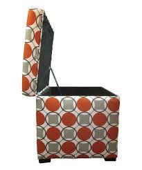 Orange Storage Ottoman Orange Gray Shoe Storage Ottoman Products