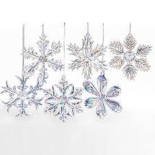 buy kurt adler 2 glass iridescent snowflake ornaments 12 set