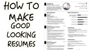 How To Make An Online Resume by Easiest Way To Make A Good Looking Resume Youtube
