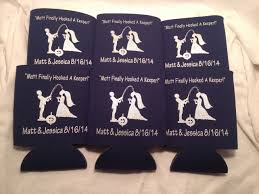 wedding koozie ideas personalized koozies with pictures odyssey custom designs