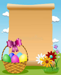 blank easter baskets blank parchment easter basket colored eggs stock vector image