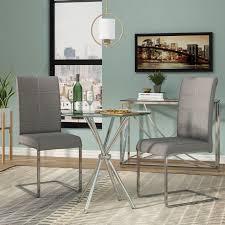 vince glass dining table u0026 reviews allmodern
