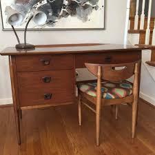 Bassett Writing Desk Mid Century Modern Walnut Desk From The U0027artisan U0027 Collection By