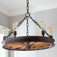 Antique Wood Chandelier Antique Wooden Wheel Chandelier Shades Of Light