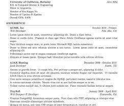 Latex Resume Template Phd Bright Inspiration Latex Resume Template 1 Latex Templates