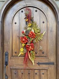 15 best front door swags images on door swag fall