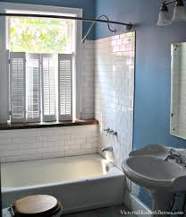 Vinyl Window Curtains For Shower Solution To The Large Window In The Shower Simple Diy Cover