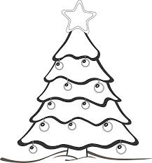 xmas christmas tree 5 black white line art coloring book colouring