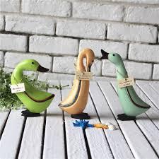 Duck Home Decor European Unique Wooden Design Duck Handwork Wooden Figurines Table