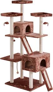 frisco 72 inch cat tree large base brown chewy