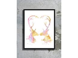 love watercolor archival print wedding gift ideas love stag poster