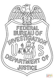 fbi badge coloring page free printable coloring pages