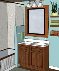 bathroom adorable 2 single vanities side by side small double
