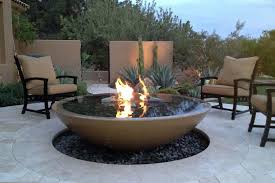 Firepit Garden Concrete Pit Bowl Crafts Home