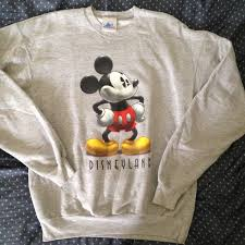 80 disney sweaters authentic disneyland gray sweatshirt