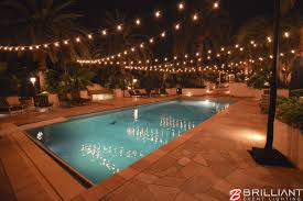 Amazing Backyard Pools by Market Lights Displayed Over Pool In Amazing Backyard Of Home