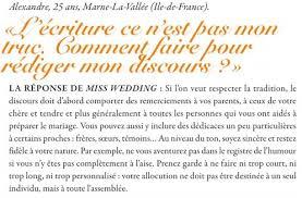 discours mariage www discours fr dans la presse mariage le magazine marions nous