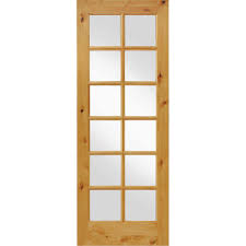 wood interior doors home depot krosswood doors 30 in x 96 in knotty alder 12 lite low e