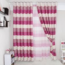 Pink Striped Curtains Graceful Energy Saving Style Purple Striped Curtains