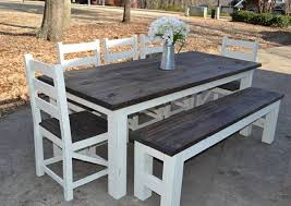 Kitchen Table With Bench Seating And Chairs - fantastic outdoor dining sets with bench seating furniture 20