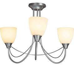 3 Light Ceiling Fixture Buy Home Symphony 3 Light Frosted Glass Ceiling Fitting Silver