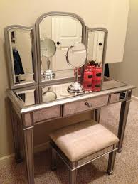 Glass Vanity Table With Mirror Black Makeup Vanity Bed Bath And Beyond Bedroom Bedding With Table