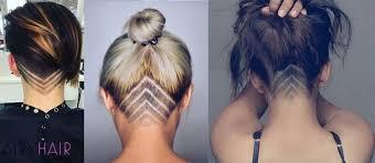 upside down v shape haircut 25 incredible hair tattoo ideas