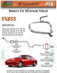 fx855 muffler strap exhaust repair 4 1 4
