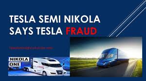 tesla truck tesla semi causes nikola truck tweet tesla truck fraud impossible