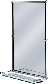 Chrome Bathroom Mirror Burlington Bathrooms Chrome Rectangular Mirror With Shelf
