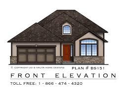 back split house plan home photo style