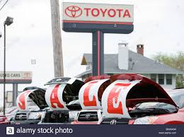 toyota vehicles toyota vehicles on a dealership lot with a
