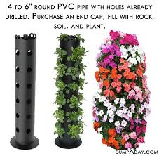 Planter Garden Ideas Garden Ideas Pvc Pipe Planter Dump A Day