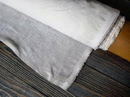 softened white linen fabric by the meters organic pure linen