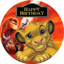 the lion king simba personalised edible image real icing large