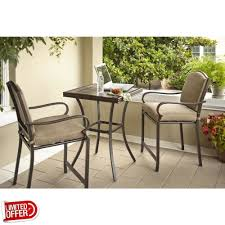 Hampton Bay Wicker Patio Furniture - bistro table set review madison bay 2 person sling patio better
