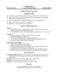 Resume Template Restaurant Resume Examples For Fast Food Resume Example And Free Resume Maker