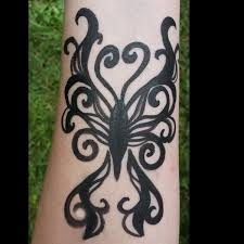 tribal butterfly tattoo design u2013 facepaint com