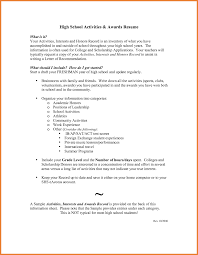 Resume For Students Sample college admission resume example resume sample high school