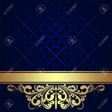 background design navy blue navy blue background decorated the golden royal border royalty free