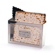 matzah holder buy standing matzah holder glass and nickel israel catalog