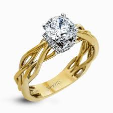 gold wedding rings designer engagement rings and custom bridal sets simon g